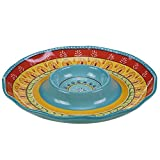"Certified International Valencia Chip & Dip, 13.25"", Multicolor"