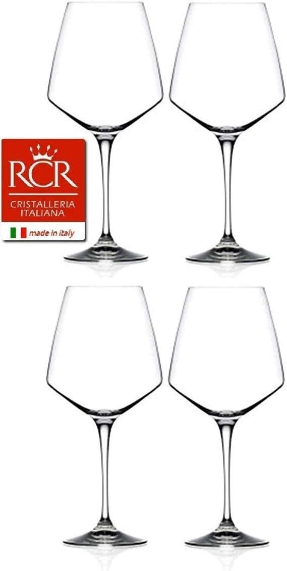RCR Cristalleria Italiana Aria Collection 4 Piece Crystal Wine Glass Set (Red Wine (26.5 oz) - 4 Piece Set)