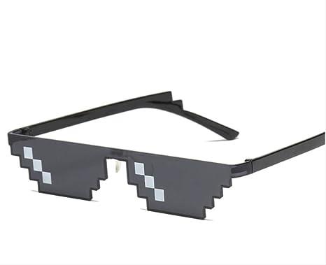 shengbuzailai Gafas de mosaico 8 bits gafas de sol pixeladas ...