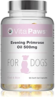 Aceite de Onagra 500mg para perros – 90 perlas – Para la salud del corazón y