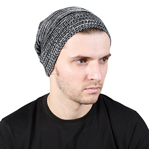 Noise Men s Acrylic Beanie Cap - NOICAP-WNTR004 Black and White Free Size   Amazon.in  Sports 3715206c97a