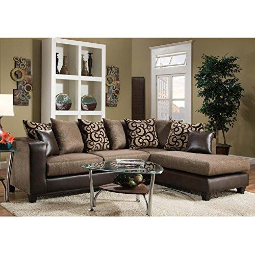 Flash Furniture Riverstone Object Espresso Chenille Sectiona
