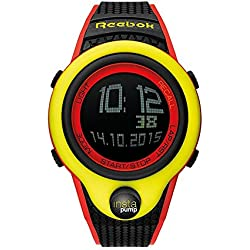 Reebok Pump InstaPump Digital Men's Chrono Watch Black Yellow and Red RC-PIP-G9-PYPB-BW