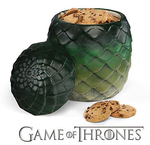 Game Of Thrones GoT Dragon Egg Canister Cookie Jar Kitchen Storage Ceramic - (Egg Cookie Jar)
