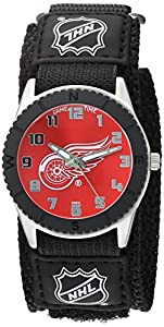 "Game Time Unisex NHL-ROB-DET ""Rookie Black"" Watch - Detroit Red Wings"