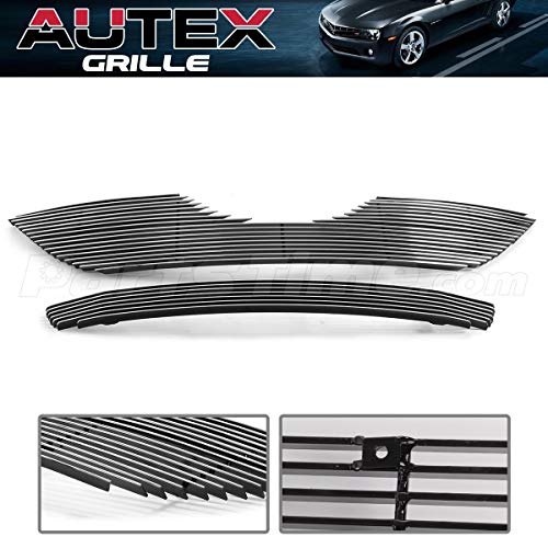 AUTEX Billet Grille Grill Combo Aluminum T87840A Compatible with Toyota Camry 2007 2008 2009 Grill Insert