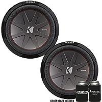 Kicker 43CWR122 12 Dual Voice Coil 2 ohm Comp R woofers Bundle