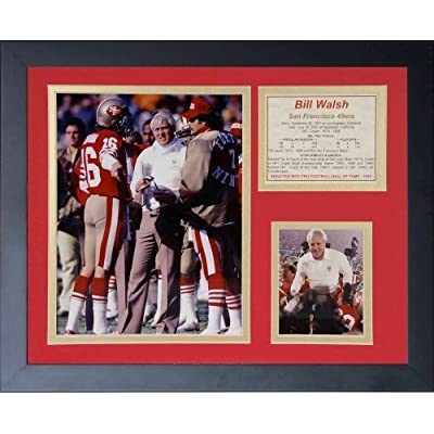 """Legends Never Die """"Bill Walsh"""" Framed Photo Collage, 11 x 14-Inch by Legends Never Die"""
