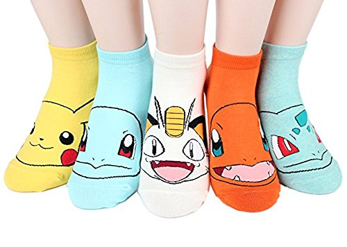 Women Socks Gift Set - Animal Cat Dog Art Cartoon Character Funny | Gift Socks | Christmas Gifts for Ladies, Girlfriend, Mom (Animal - Pokemon Face O) -
