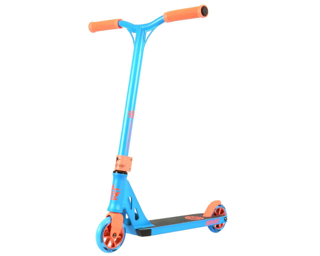 Summit Mini Trick Stunt Complete Scooter - Perfect for Young Beginner Freestyle Scooter Rider - Small Handlebars and Small Deck Plate - The WORLD'S Favorite Professional Mini Kick Push Scooter (Blue) by LONGWAY