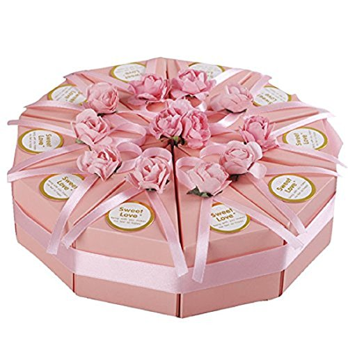 Creative Candy Box Triangle Cake Box Gift Case Party Favor Wedding Candy (Triangle Favor Boxes)