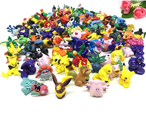 Pokemon Pikaqiu Monster Toy | Set Of 20 | Collectible Action Figure | Randomly Small Gift | Cupcake Toppers For Birthday Party ()