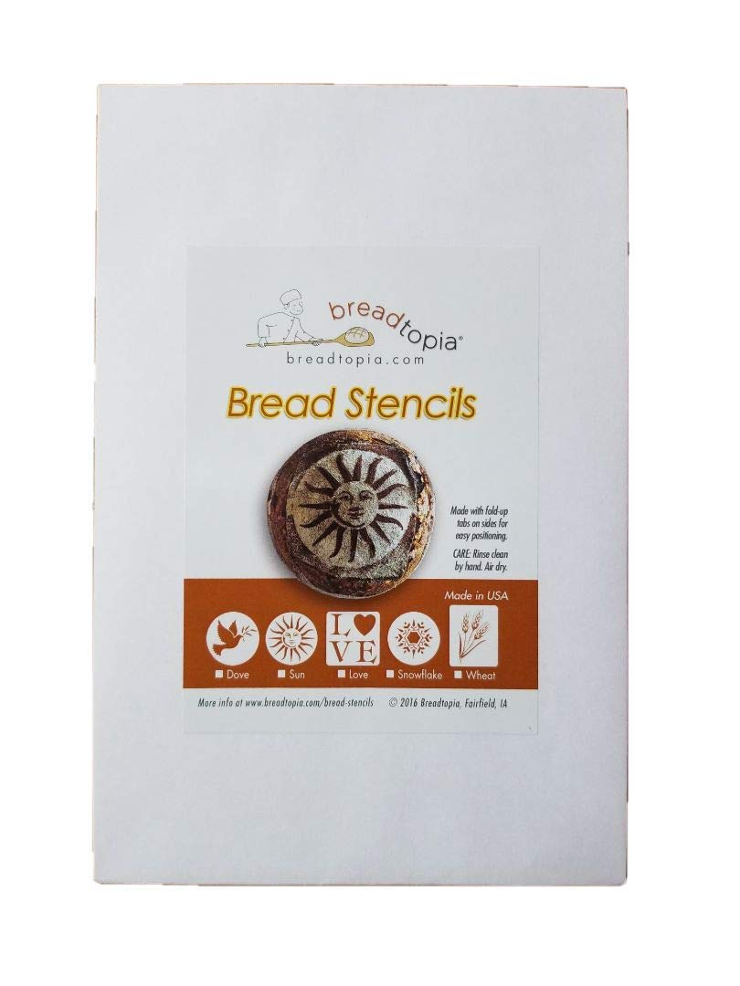 Breadtopia Bread Stencils Set of 5 Decoration for Breads Cakes and Pies