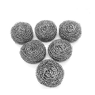 Stainless Steel Sponges,URSMART Scrubbing Scouring Pad,Steel Wool Scrubber Pad for Tough Kitchen Cleaning - Metal Mesh Scourer for Dishes, Pots, Pans, Kitchen Cooking Utensil Cleaning Tools(6pcs)