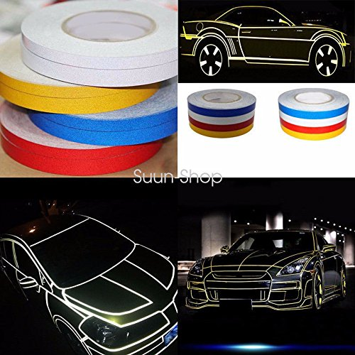 Car Reflective Body Rim Stripe Sticker DIY Tape Self-Adhesive 150 Feet