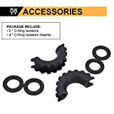 1 Pair Black D-Ring Isolator and 4 Pcs Washers,Shackle Isolator Kit Protect Your Bumper and Reduce Rattling,Fit for Jeep Off-road Vehicle SUV ATV UTV Truck 4WD--AutoSky