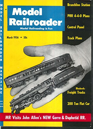 MODEL RAILROADER Branchline Station PRR 4-4-0 Freight Trucks John Allen 3 1956