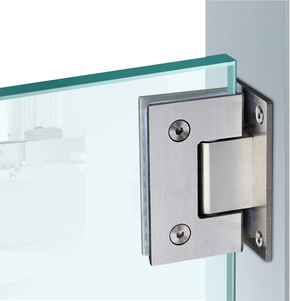 Bisagras de vidrio de ba/ño de acero inoxidable vidrio plateado a vidrio para puerta de cristal//puerta de armario de cristal//vitrina de vidrio gruesa de acero inoxidable acabado pulido