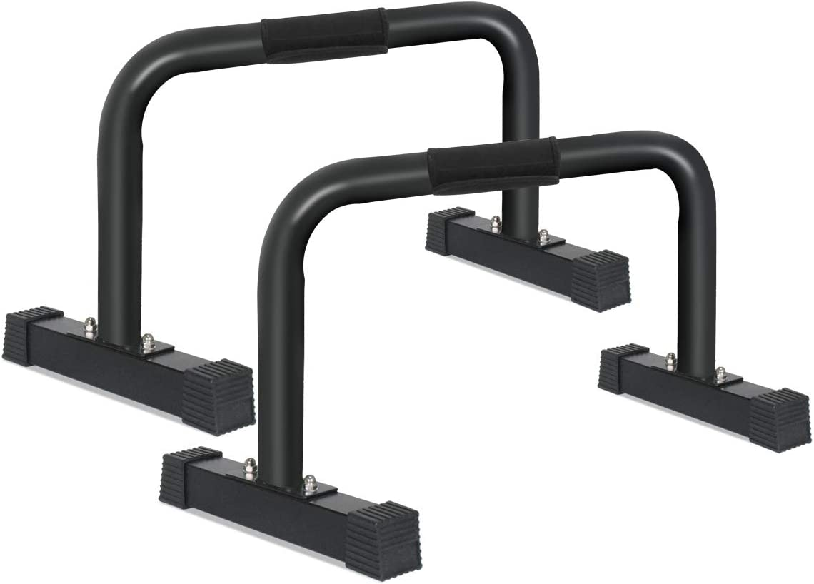 IDEER LIFE Parallettes Push-Up Bar, Parallette Bars, Gym XL Parallette Push up Stand, Upper Body Exercise Equipment w Large Non Slip Rubber Feet Removable Handle Grip,14×24 inch