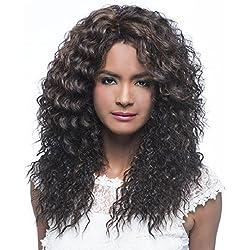 Vivica A Fox Hair Collection Wp-Caiden Weave Cap, New Futura Synthetic Fiber Wig in Color, 1B, 9.7 Ounce