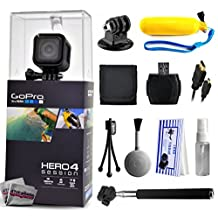 GoPro Hero 4 HERO4 Session CHDHS-101 with Floaty Bobber + Selfie Stick + HDMI Cable + MicroSD Reader + Card Wallet + Tripod Adapter + Cleaning Kit