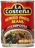 La Costena Pinto Beans with Chipotle, Refried, 20.5 Ounce (Pack of 12)