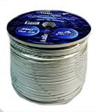 500 FT 16 GAUGE WHITE MARINE SPEAKER WIRE STRANDED TIN COPPER PLATED MSC-16-500