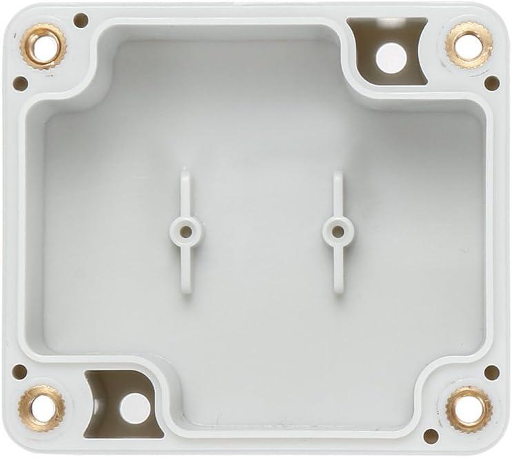 sourcing map 63mmx58mmx35mm Caja de Conexiones de Pl/ástico ABS para Proyecto El/éctrico Bricolaje DIY