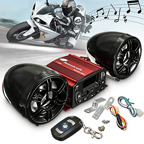 KENTT Motorcycle Anti Theft Alarm MP3 High-power Remote Control Speaker Sound System Motorcycle Audio Motto ()