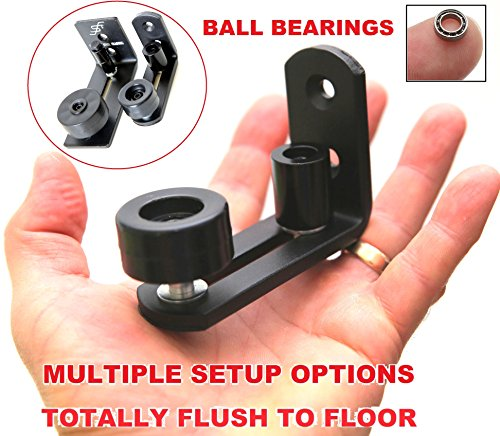 NEW * FLORADIS SMALL STAY ROLLER FLOOR GUIDE for BOTTOM of SLIDING BARN DOORS / SITS FLUSH to the FLOOR/ ULTRA SMOOTH FULLY ADJUSTABLE MULTIPLE SETUPS WALL MOUNT STOP GUIDES/ BALL BEARINGS WHEELS by Floradis Steel Trading (Image #9)