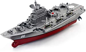 InKach RC Boats Toys, Aircraft Carrier Warship Battleship Remote Control Boat, Fast Electric Racing Boats for Pools Lakes