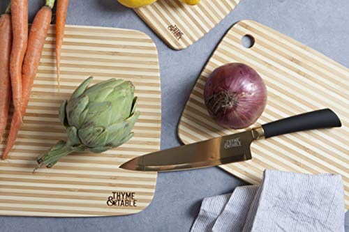 Thyme and Table 3-Piece Bamboo Striped Cutting Board Set Bamboo Striped Cutting Board