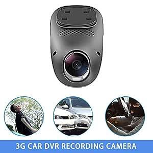 KEIBODETRD Cámara de Grabación DVR para Coche 3G Dual Lens HD ...