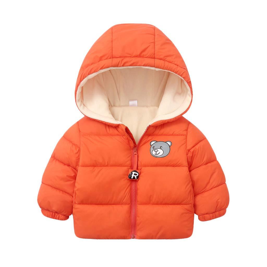 PLENTOP Toddler Boys Clothes for Winter,Chlidren Kids Boys Girl Winter Coats Jacket Zip Thick Bear Snow Hoodie Outwear by PLENTOP