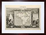 MAP ANTIQUE LEVASSEUR AFRICA CONTINENT FRAMED PRINT F97X3984