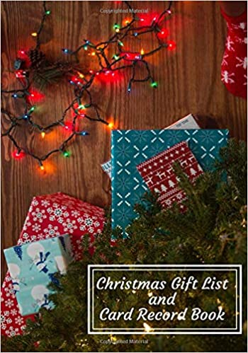 Christmas Gift List And Card Record Book Holiday Gift Shopping