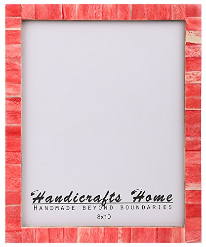 8×10 Bone Picture Frames Chic Photo Frame Handmade Vintage from Handicrafts Home (8×10 Inches, Red)