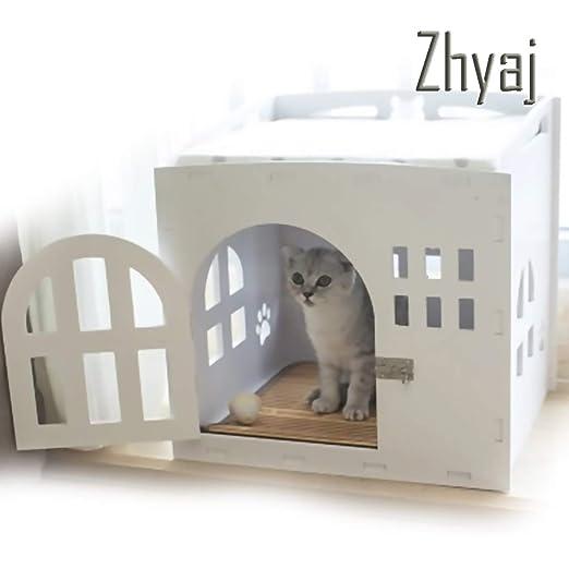 Zhyaj - Caseta Exterior para Perro con Puerta para la casa ...
