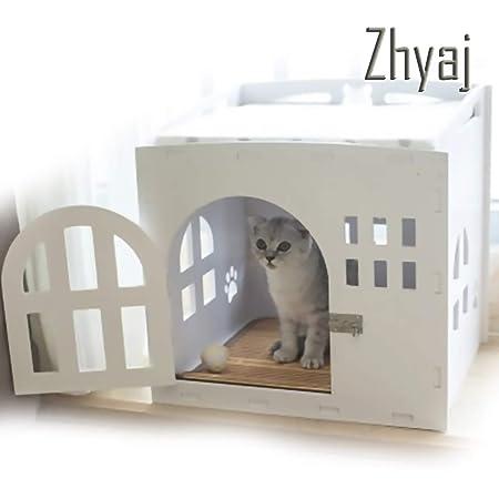 Zhyaj - Caseta Exterior para Perro con Puerta para la casa para ...