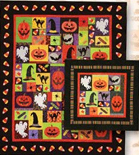 Cute Halloween Embroidery Designs (Halloween Fun Lunch Box Quilts Applique Embroidery Pattern on CD-ROM)