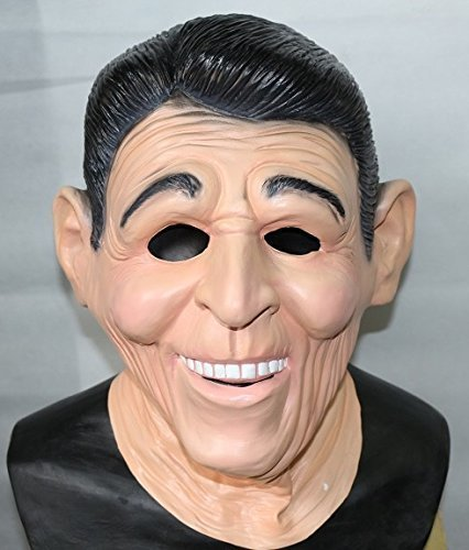 Ronald Reagan Ex President Latex Mask American Fancy Dress By The Rubber Plantation tm by The Rubber Plantation tm]()