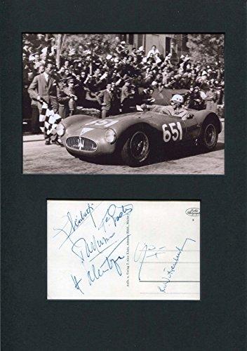 FERRARI F1 DRIVER Luigi Musso autograph, signed postcard (Luigi Ferrari Fans)
