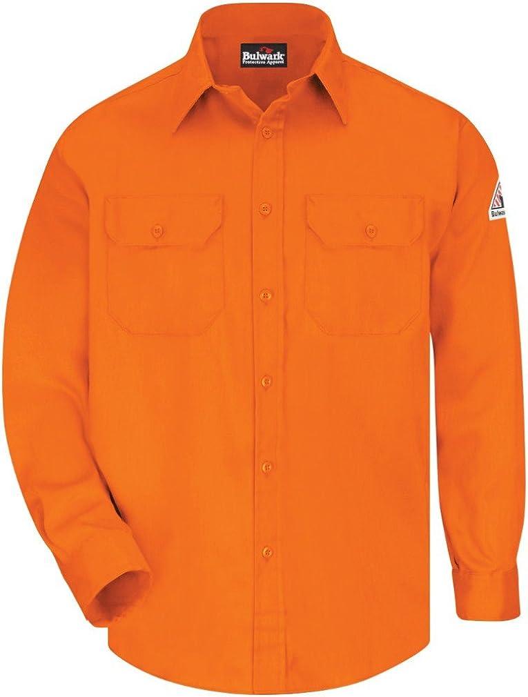 EXCEL FR 88/% Cotton//12/% Nylon RG3XL SLU8OR Bulwark Uniform Shirt Men 6 oz.