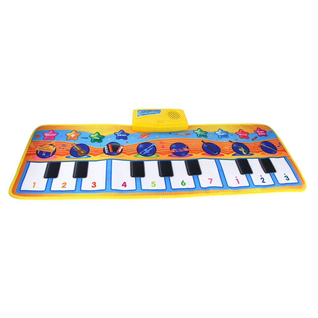 DYNWAVE Folding Musical Piano Mat 18 Keys Playmat Dancing Blanket Built-in Speaker Developmental Toy Gift for Kids Toddlers Boys & Girls (31.5x11.4 inch) by DYNWAVE (Image #3)