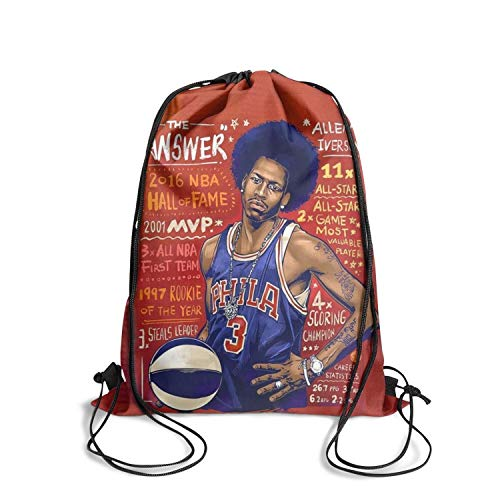 Basketball String Drawstring Backpack School Printted Custom Bookbags Gift