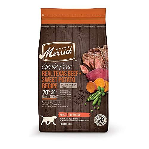 Merrick Grain Free Texas Beef + Sweet Potato Recipe Dry Dog Food, 4 lbs.