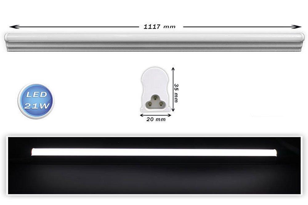 Plafoniera Neon Led 60 Cm : Vetrineinrete® sottopensile led plafoniera neon tubo 30 40 50 60 90