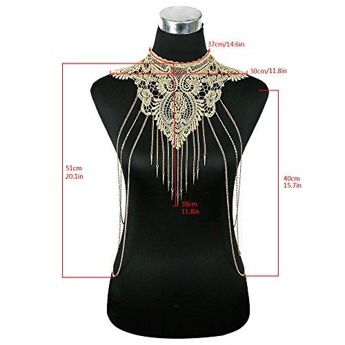 Gold Lace Bras (DOTASI Gold Flower Lace Fine Chain Body Chain Bikini)