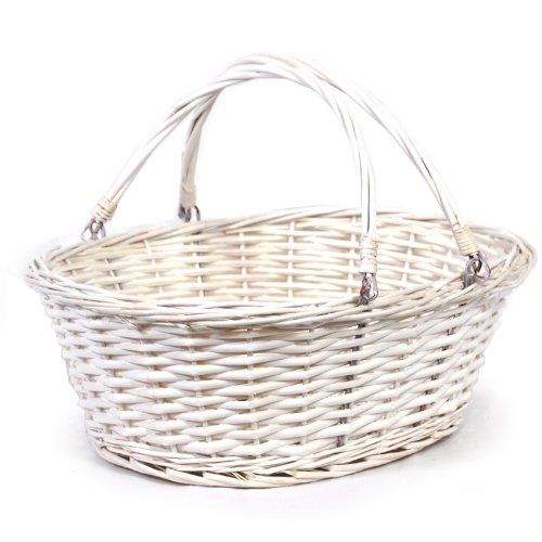 The Lucky Clover Trading Medium Willow Shopper Basket-14 in Basket, - Shopper Handle
