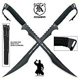 K EXCLUSIVE Twin Ninja Swords with Tactical Scabbards